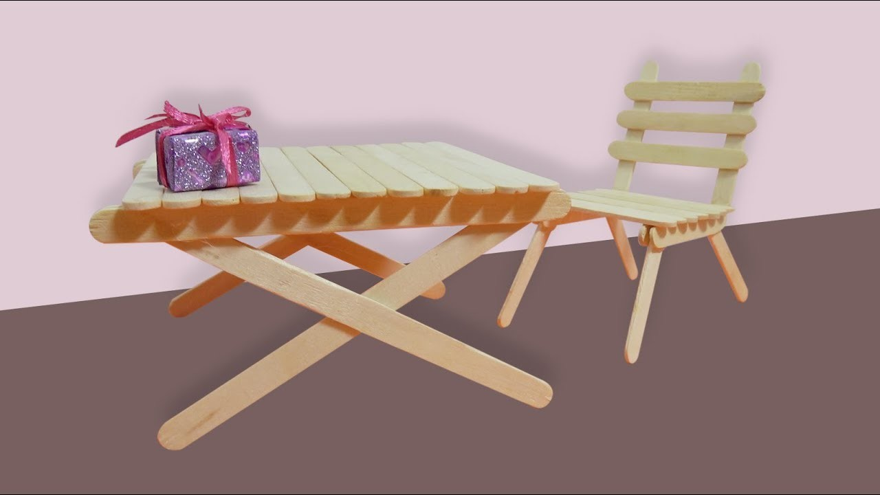 How To Make Popsicle Stick Chair For Doll Art And Crafts