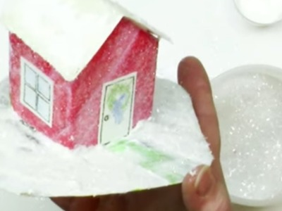 How to Make Quick and Easy Glitter Houses or Putz Houses Tutorial