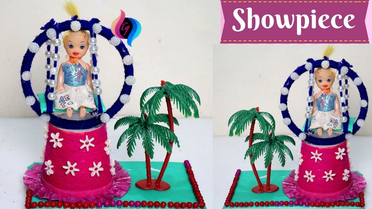 How to make showpiece from waste materials showpiece for Best out of waste items