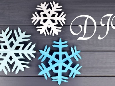 How to Make Simple Snowflakes from Paper