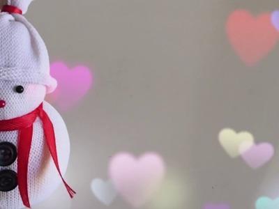 How to make Snowman with socks. Christmas Decoration Idea | Priti Sharma