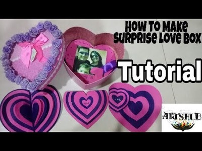 How To Make surprise Heart Box Full Tutorial .
