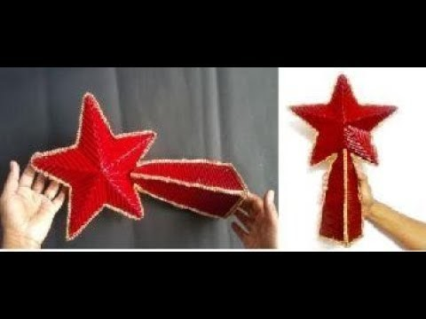 HOW TO MAKE TREE TOPPER STAR USING RECYCLED THINGS