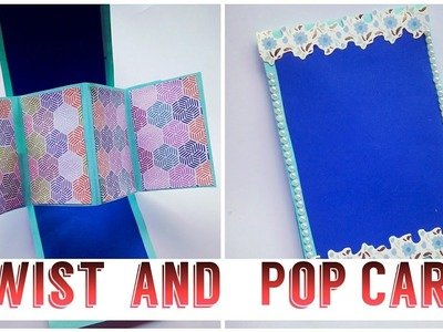 How to make Twist and Pop Card for boyfriend, friends, anniversary, birthday. |letscraft