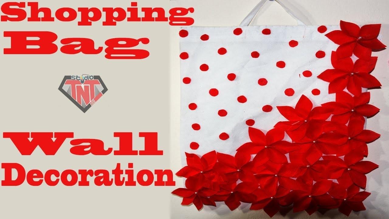 How To Make Wallmate Using Shopping Bag || DIY Tote Bag Room Decor Ideas