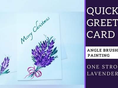 How to paint lavender   DIY   Ribbon painting   Angle Brush painting   Christmas series