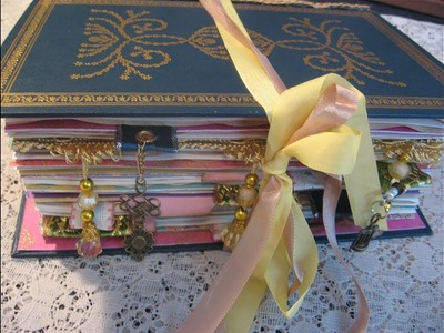 How To PART 1 - Tutorial: Step-by-step Make a Handcrafted Journal from a Book