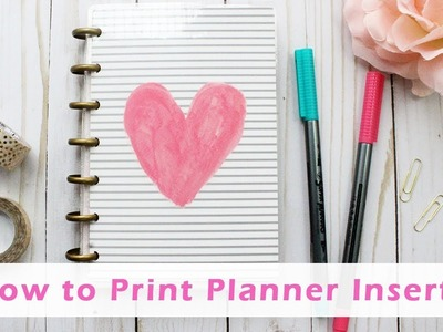How to print and cut my mini happy planner inserts
