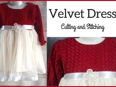 How to Sew Baby Party Dress (Velvet Dress) in Hindi.Urdu