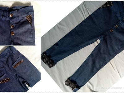 How To Stitch Jeans Pant For Boys.MEN Cutting Stitching Tutorial video Boys men pant stitching DIY