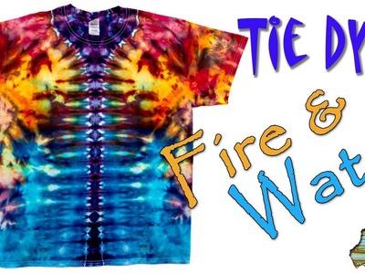 How to Tie Dye:  Fire & Water  [Ice Dye]