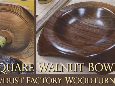 How To Turn a Square Bowl with Feet - Sawdust Factory Woodturnings
