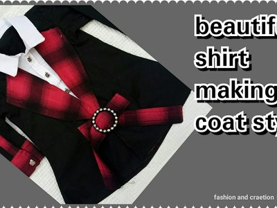 How Tot Make Beautiful Coat Style shirt.Top for girls Cutting Stitching Tutorial video Latest Design
