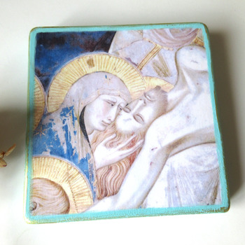 Jesus Icon, Religious Painting Christian icon, Orthodox Catholic icon, Jesus Christ art, Lamentation of Christ, catholic gift idea