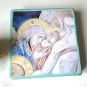 Jesus Icon, Religious Painting Christian icon, Orthodox Catholic icon, Jesus Christ art, Lamentation of Christ, catholic gift idea