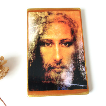 Jesus icon Shroud of Turin Large Handmade Wooden Icon Christian Art Orthodox Catholic Icon Religious icon