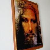 Jesus icon Shroud of Turin Large Handmade Wooden Icon Christian Art Orthodox Catholic Icon Religious icon