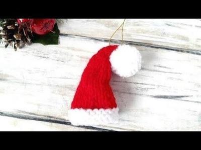 Knitting santa hat Gift Tag!!!!