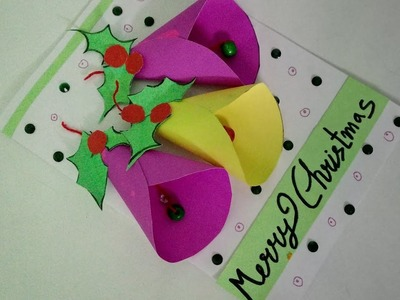 Make Easy Christmas Bell Card For Kids | How To | CraftLas
