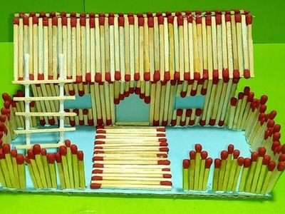 Matchstick 3D House! How To Make a Match Stick House or Home.