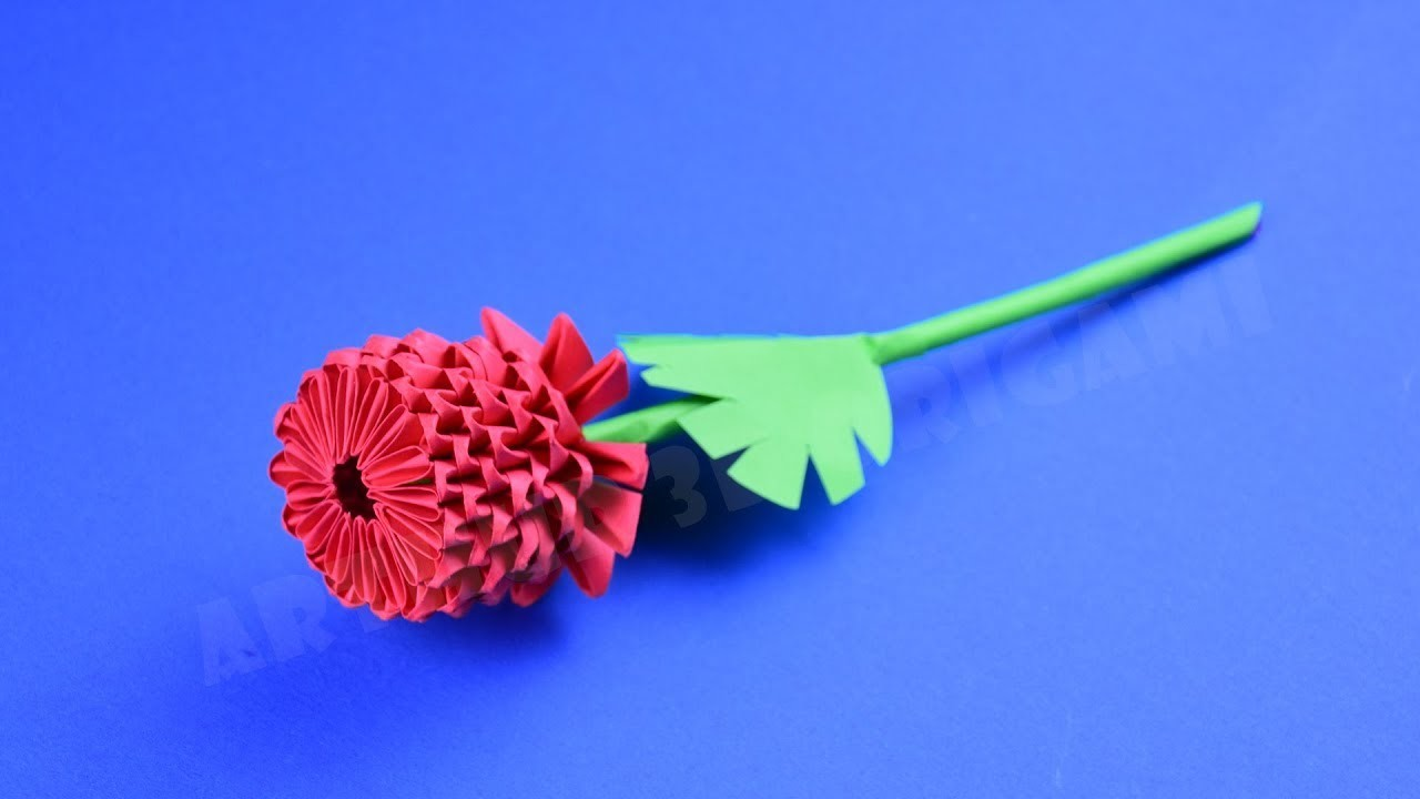Origami Flower Rose From Pieces Of Paper Diy How To Make An