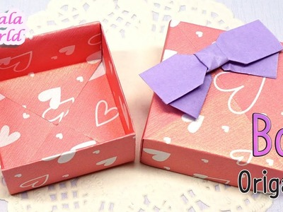 Origami - Gift Box (Box & Lid, How to make a Paper Box)