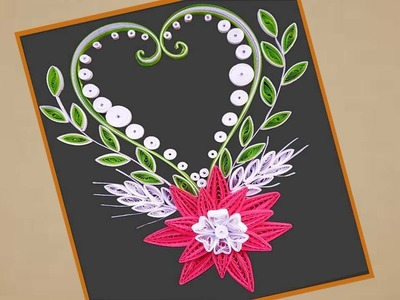 Paper Art | Beautiful Quilling design Greeting card | Indian Tradition