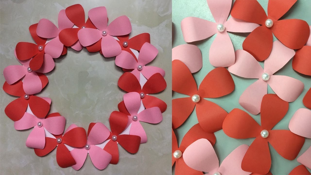 Paper flower wall hanging diy wall decoration hanging flowers paper flower wall hanging diy wall decoration hanging flowers paper crafts ideas mightylinksfo