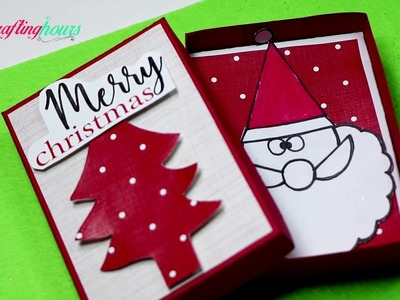 Paper Gift Box with Christmas and Santa Theme