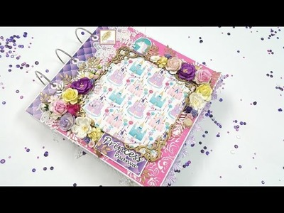 Princess Scrapbook | Mini Album | Record Book for Baby Girl | Gift | New Born **(SOLD)**