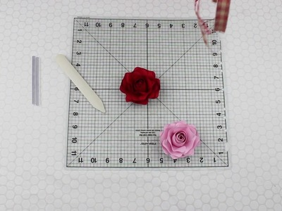 Small Rose Paper Flower Ornament (Time Lapse)
