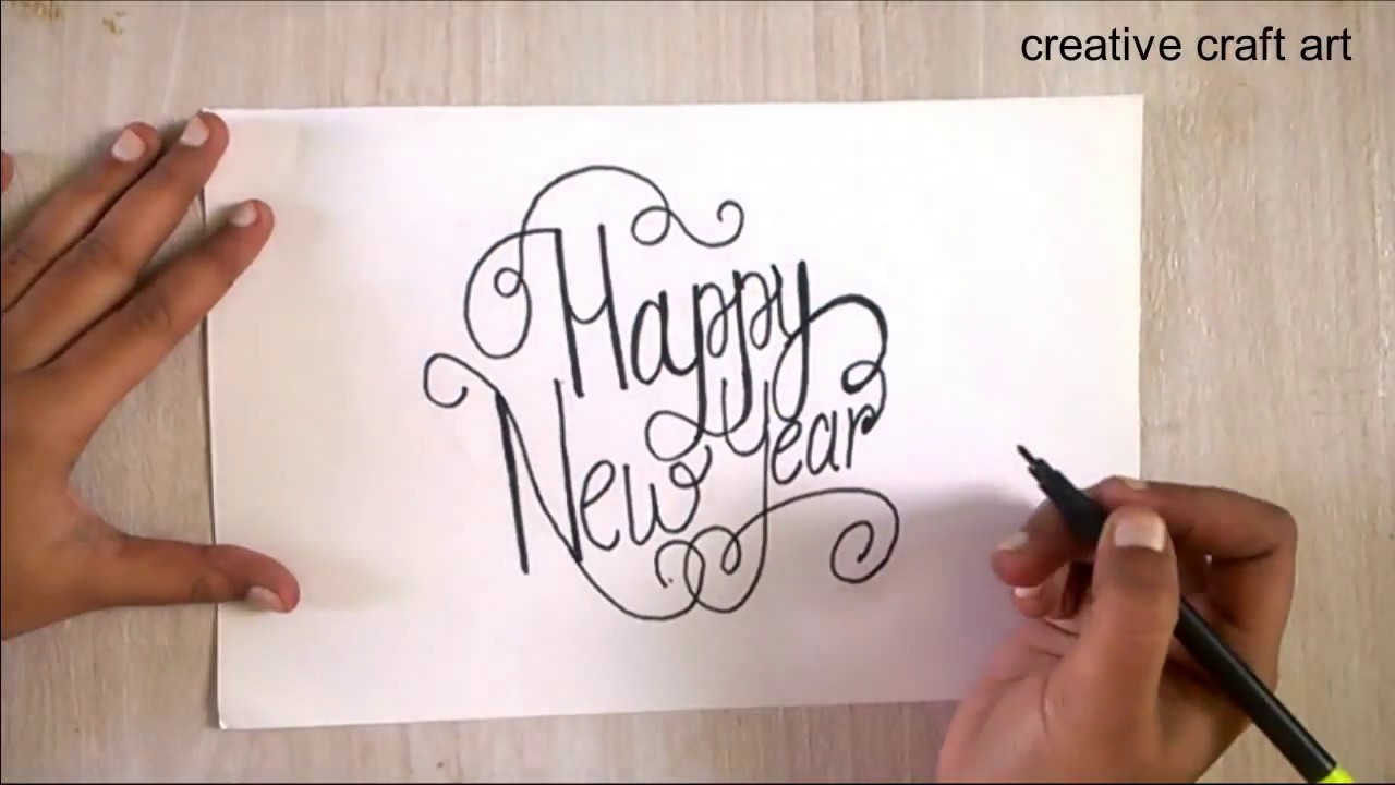 Happy New Year Drawing 90