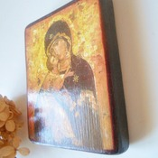 Theotokos of Vladimir icon Byzantine Orthodox Russian icon Catholic Icon Our Lady of Vladimir Personalized Christian gift Catholic art gift