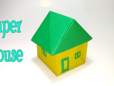 কাগজের ঘর বানানো শিখুন - How to make an Origami House   Paper House