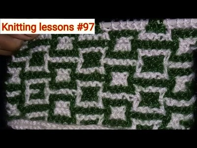 Two Colours || Horizontal Squares || Knitting Pattern || Knitting Designs by Knittinglessons