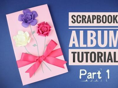Unique Paper Flower Scrapbook Album Tutorial (Part 1) - Crafts n' Creations