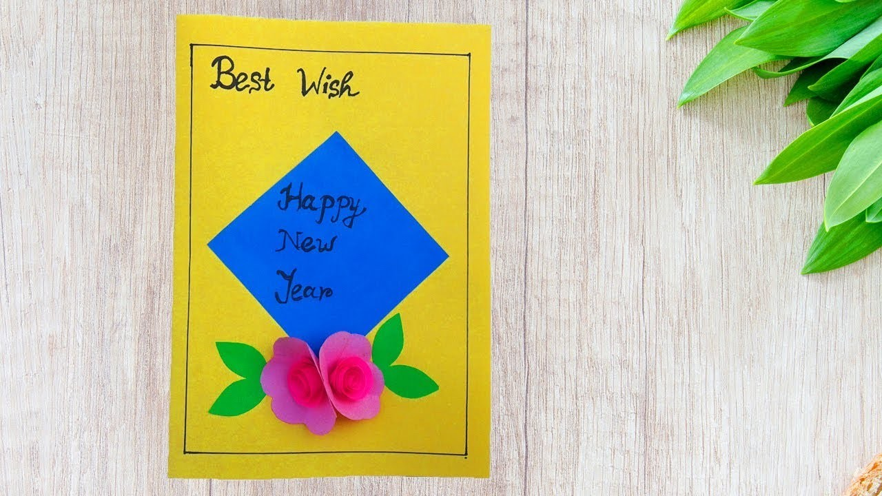 very easy how to make new year card 2018new year 2018 card making