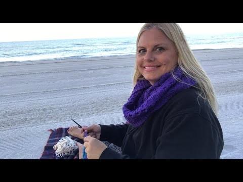 Yarn on the Beach 002 with Kristin Omdahl Knitting and Crocheting Sunrise at the Beach