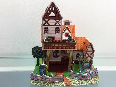 3D Super Puzzle DIY, How to assembly the Paper Villa XY-560