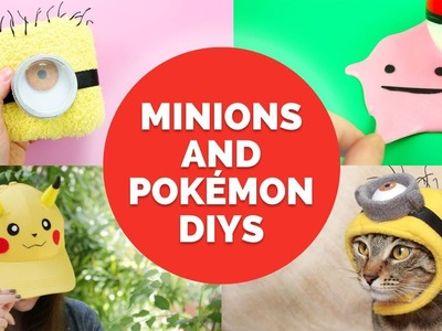 5 Minion & Pokemon DIYs You Must Try! | DIY Holiday Gift Ideas for Kids
