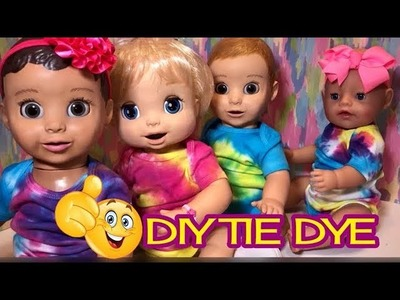 ❤️ Baby Alive ❤️ Luvabella❤️Baby Born DIY Tie Dye ONSIES ????fun baby doll project