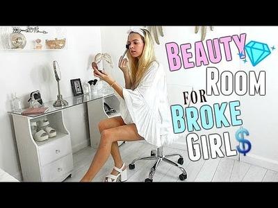 BEAUTY ROOM for BROKE GIRLS | DIY Room Decor 2018 | DIY Vanity for $0 | Room Tour decor on a budget