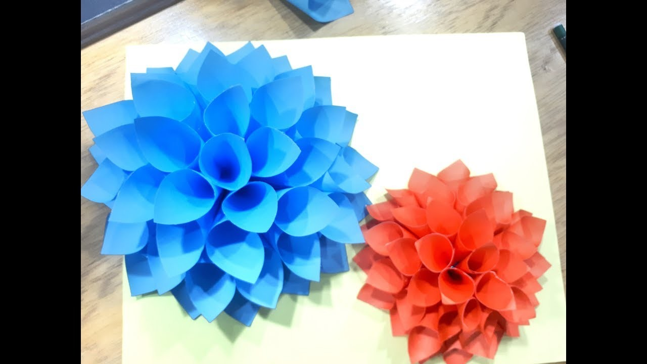 Big paper flowers diy wall decor mightylinksfo
