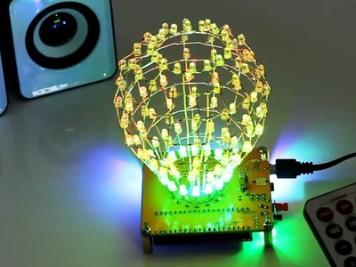 Colorful RGB Flashing LED DIY Spherical Light Ball Gift for Room Decoration- www.ICStation.com
