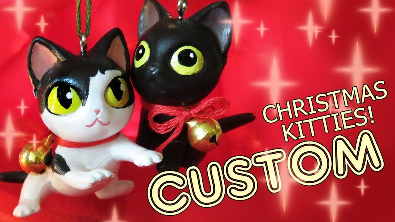 Custom Christmas Kitties DIY - Make an ornament out of your old toys!