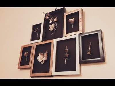 DIY 3D Wall Frame Art Decor, Using Everyday Items at Home, GLAM UP YOUR SPACE