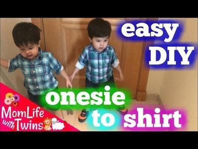 DIY BABY ONESIE TO SHIRT | REPURPOSE BABY CLOTHES