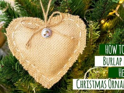 DIY Burlap Rustic Christmas Ornaments