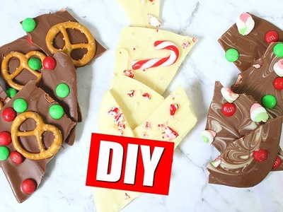 DIY CHOCOLATE BARK - QUICK & EASY HOLIDAY GIFT IDEA | 25 DIYs Of Christmas Day 19