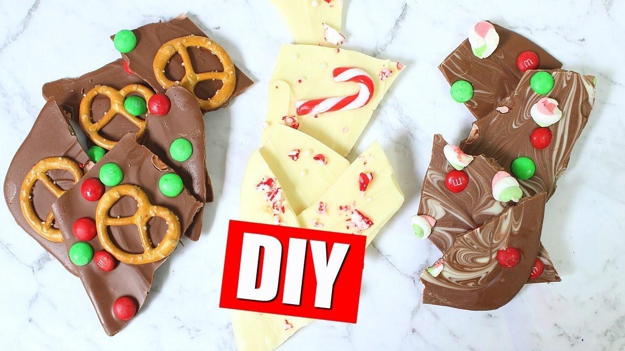 DIY CHOCOLATE BARK - QUICK & EASY HOLIDAY GIFT IDEA | 25 DIYs Of Christmas Day 19